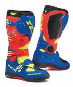 TCX Comp Evo Michelin Offroad Boots Red/Blue/Yellow